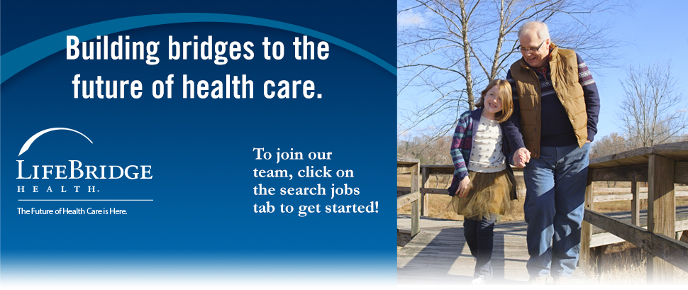 Building bridges to the future of health care. To join our team, click on the search jobs tab to get started!