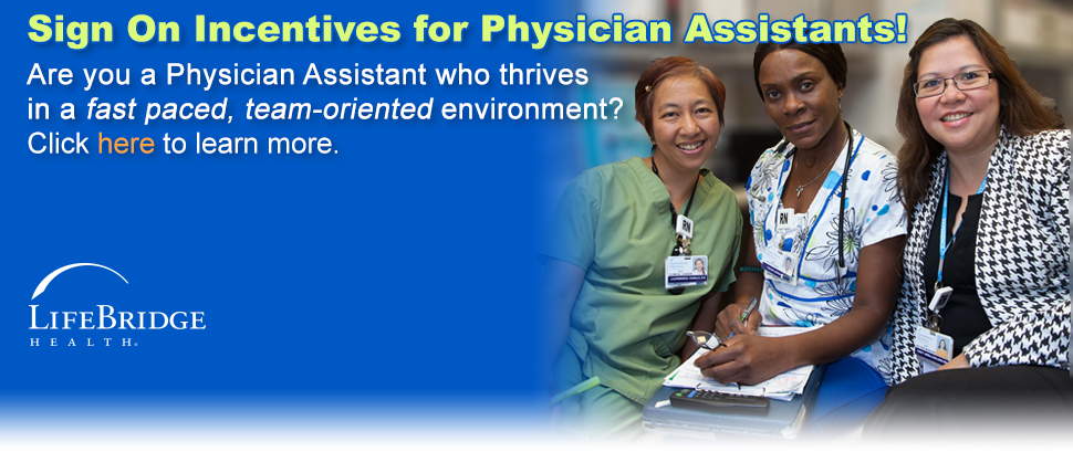 Sign On Incentives for Physician Assistants! Click here to learn more.